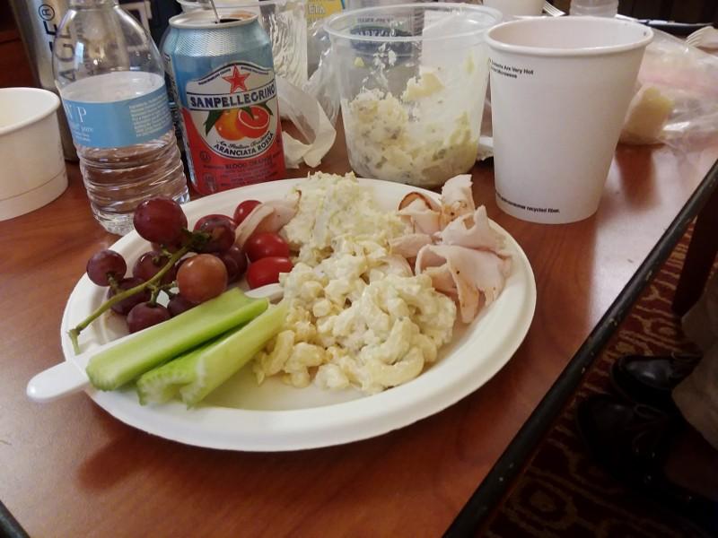 veggies, turkey & salads
