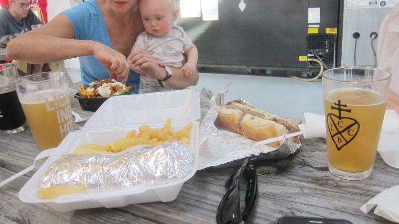 sandwiches & fries & salad