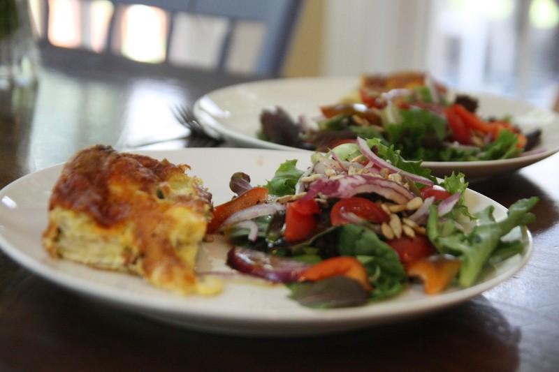 zucchini bread & salad