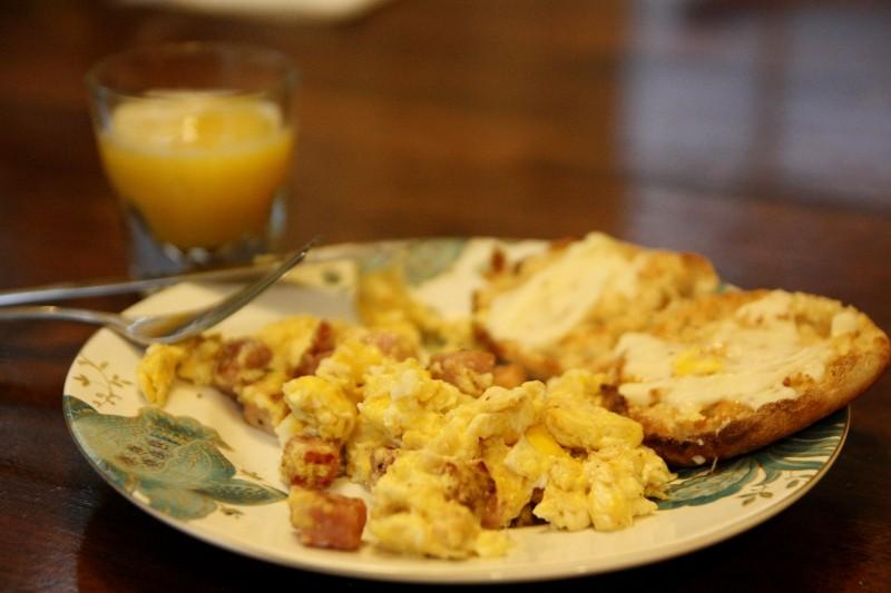eggs, ham