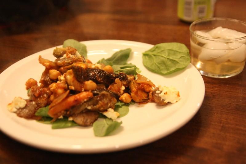 feta, sausage, & veggies