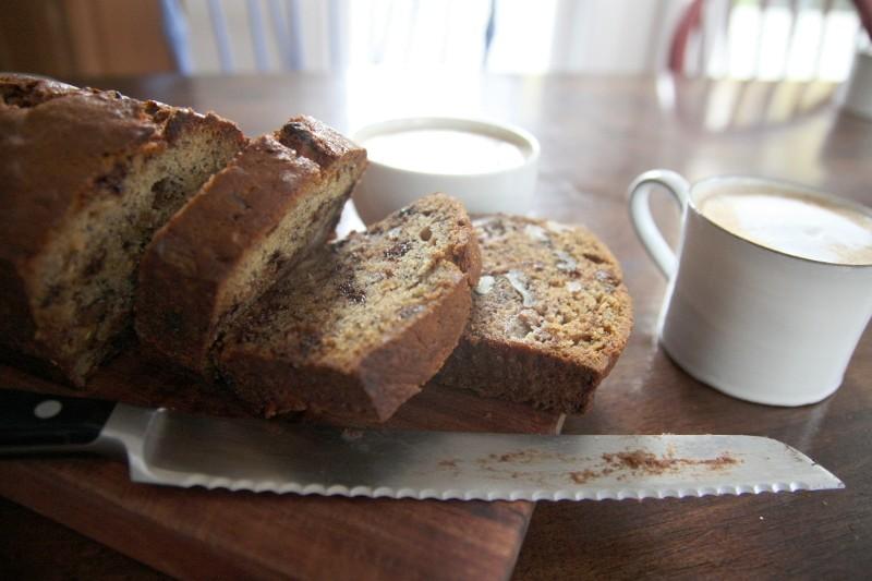 banana bread & cappuccino