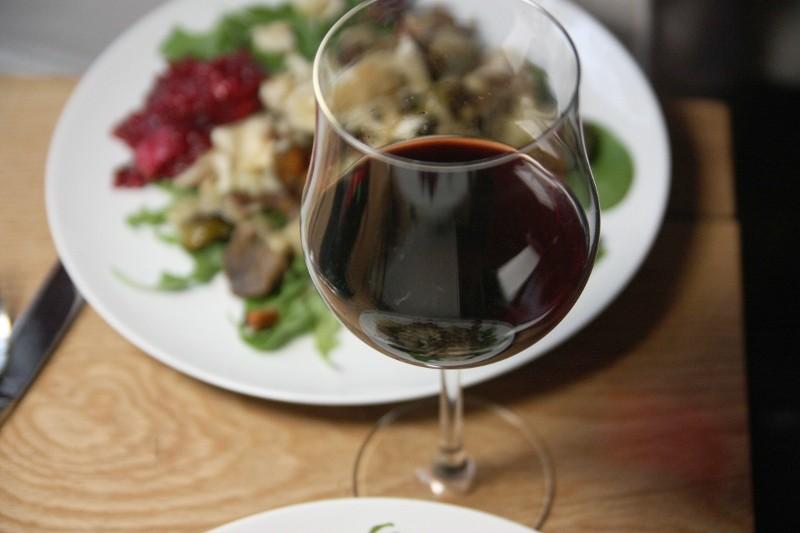 wine & salad