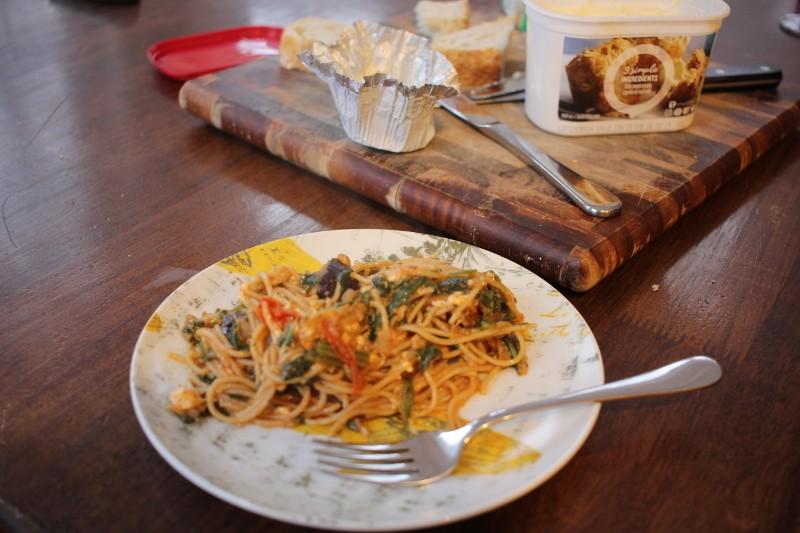 spaghetti & veggies