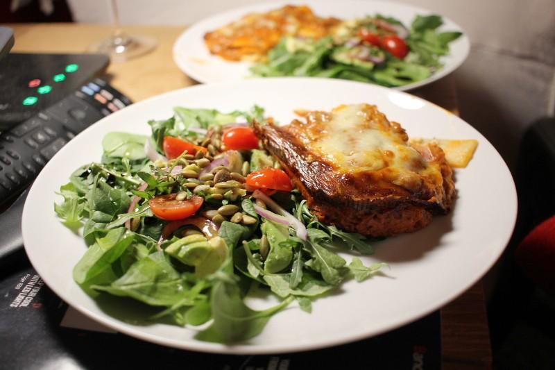 salad & lasagna