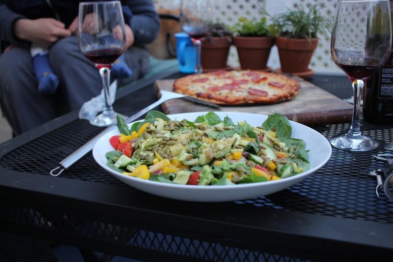 salad & pizza