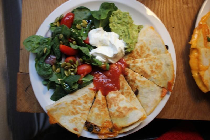 salad & quesadilla