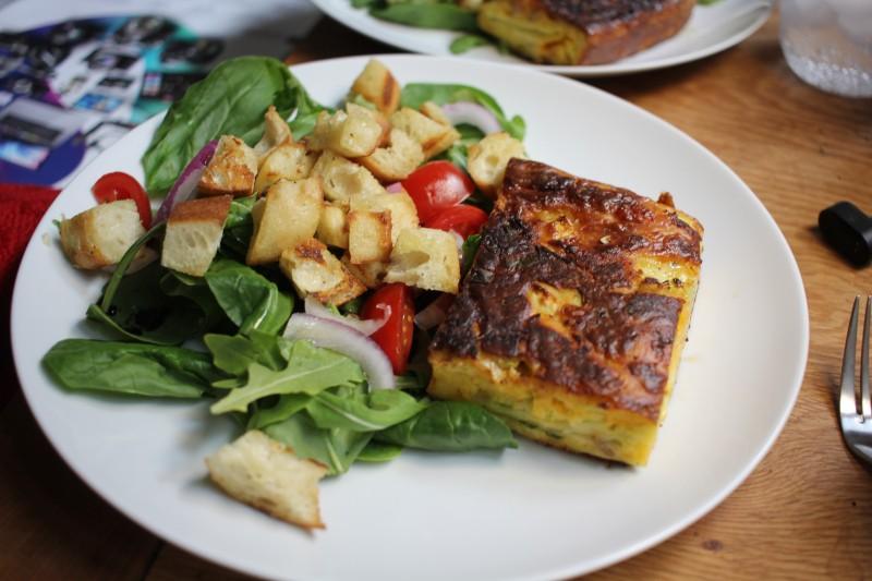 salad & zucchini bread