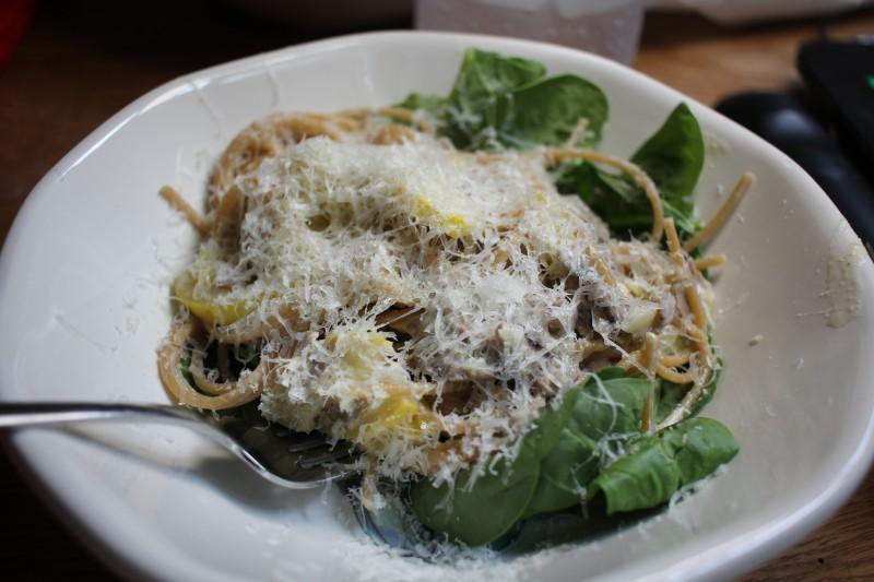 spaghetti & greens